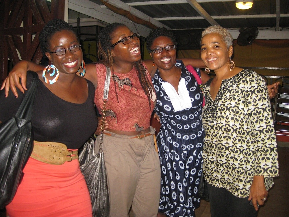 Some of the people that participated in the Talk Party. From left to right: Famia, Nana Darkoa, Kukuwah and Billie
